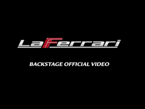 LaFerrari official backstage video